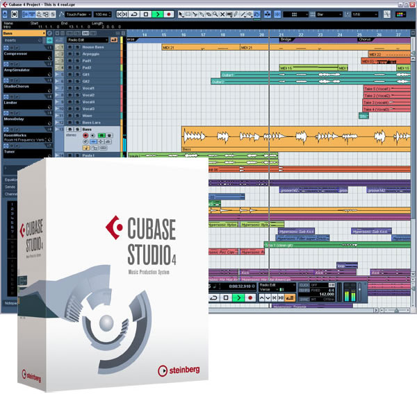 Cubase Studio 4 - Music Production System. Full ISO Cubases4_box