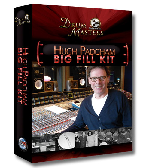 "Hugh Padgham ""Big Fill Kit"" box cover art"